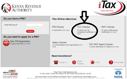 Tax Compliance Certificate Checker