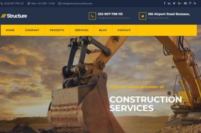 Solo Construction Limited - Website Design