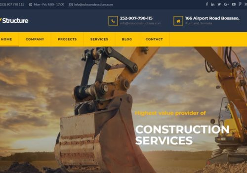 Solo Construction Limited - Website Design
