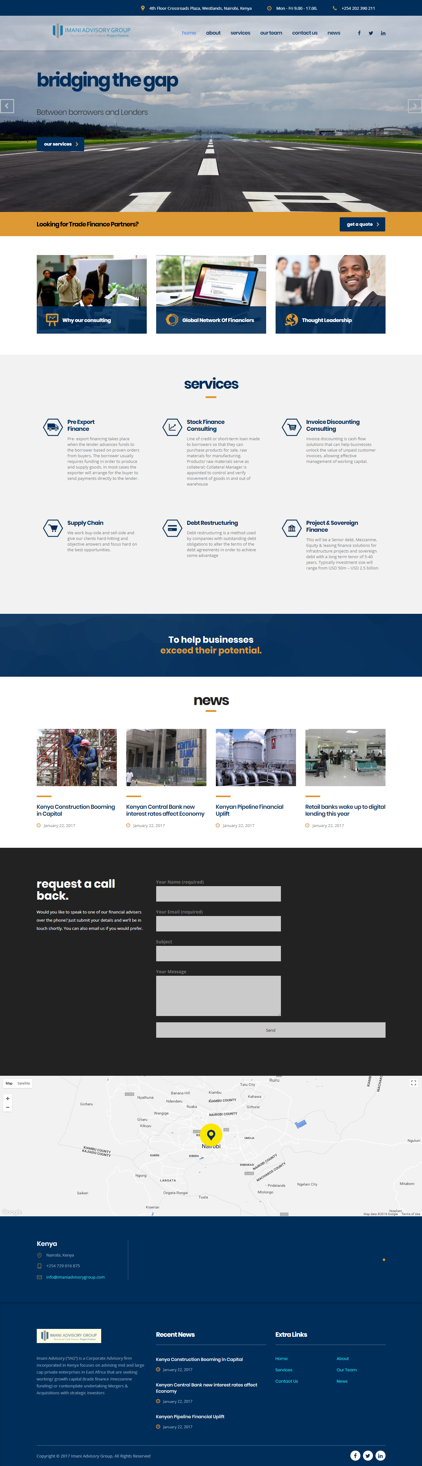 Imani Advisory Group Limited - Web Design